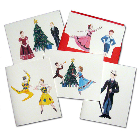 Christmas Party Scene Assorted Note Card Set - Ballet Gift Shop