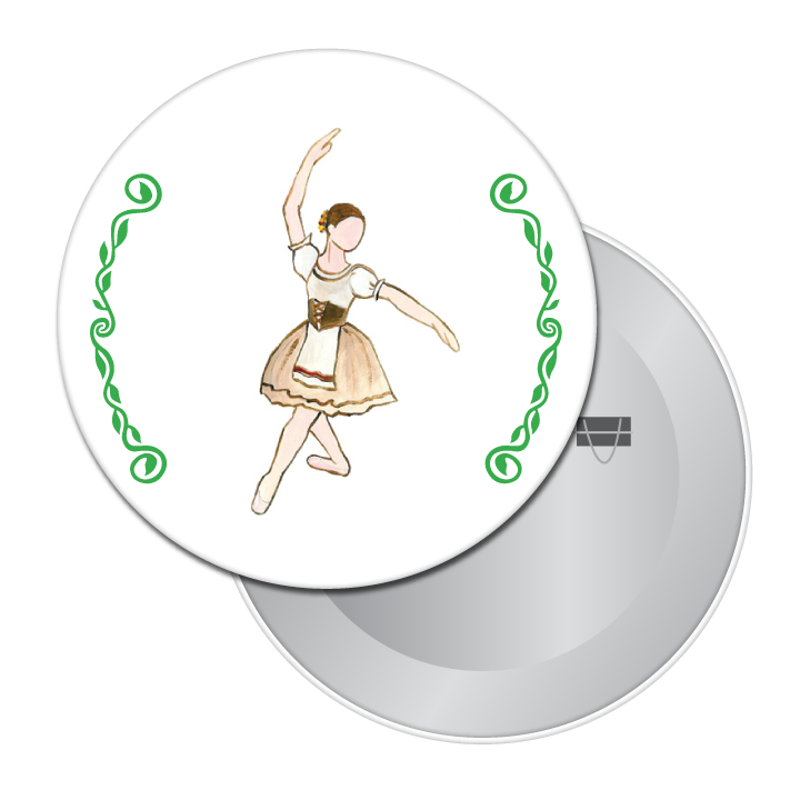Peasant Dancer (from Coppelia) Button / Magnet