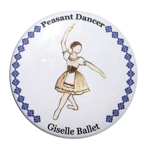 Peasant Dancer (from Giselle) Button / Magnet - Ballet Gift Shop