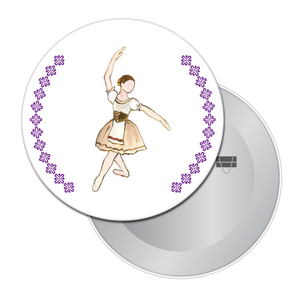 Peasant Dancer (from Giselle) Button/Magnet/Mirror