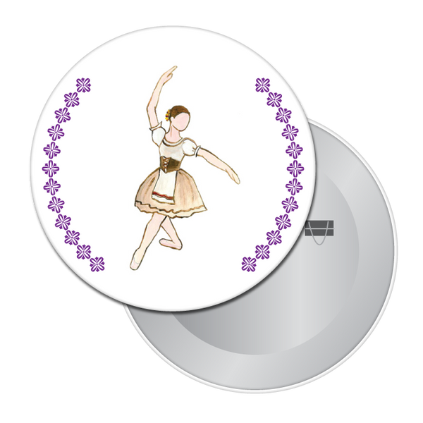 Peasant Dancer (from Giselle) Button / Magnet