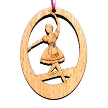Load image into Gallery viewer, Peasant Dancer Laser-Etched Ornament - Ballet Gift Shop
