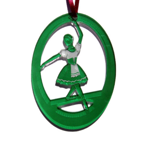 Peasant Dancer Laser-Etched Ornament - Ballet Gift Shop