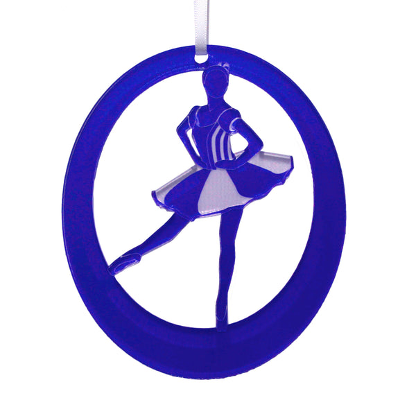 Peppermint Soloist Laser-Etched Ornament - Ballet Gift Shop