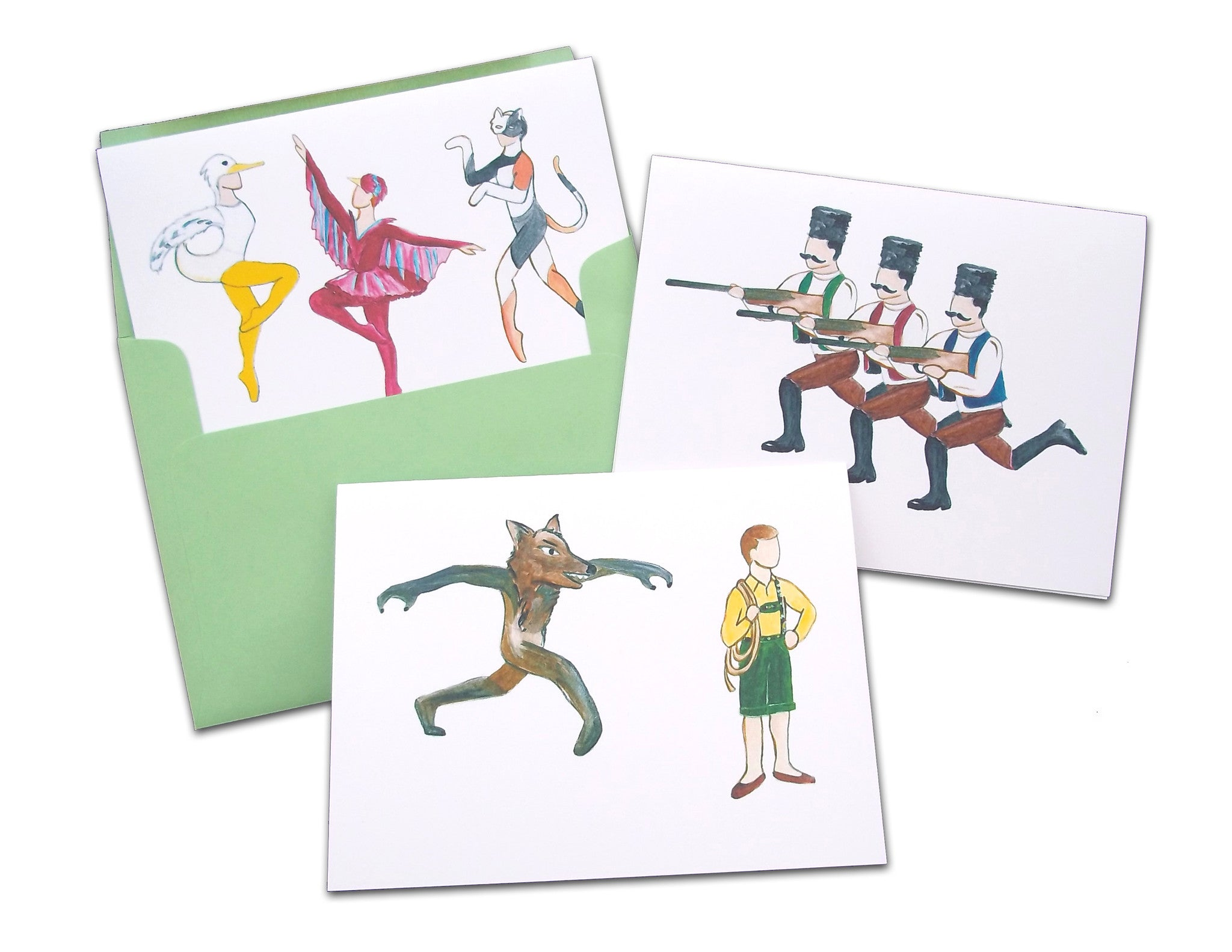 Peter & The Wolf Assorted Note Card Set - Ballet Gift Shop