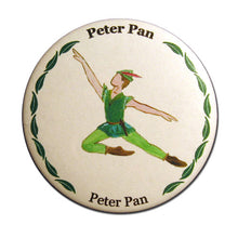 Load image into Gallery viewer, Peter Pan Button/Magnet/Mirror - Ballet Gift Shop