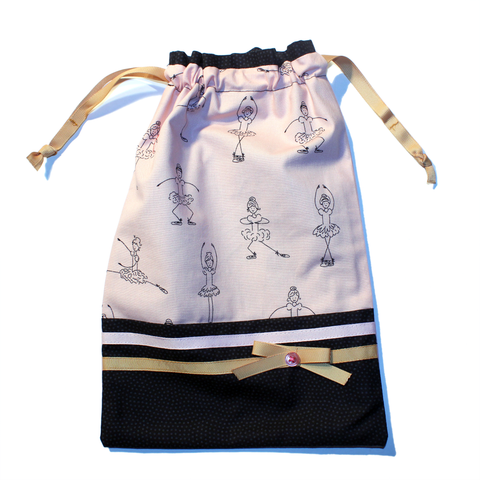 Ballet Positions Drawstring Tote