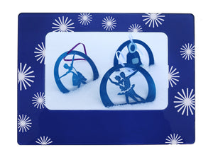 "Firecrackers 4"" x 6"" Magnetic Photo Frame (Horizontal/Landscape) - Ballet Gift Shop"