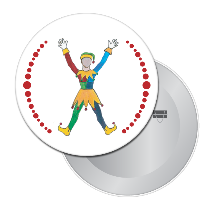 Polichinelle Clown Button/Magnet/Mirror