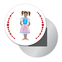 Load image into Gallery viewer, Polichinelle Girl (African-American) Button / Magnet