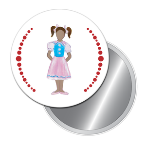 Polichinelle Girl (African-American) Button/Magnet/Mirror