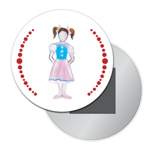 Load image into Gallery viewer, Polichinelle Girl Button/Magnet/Mirror