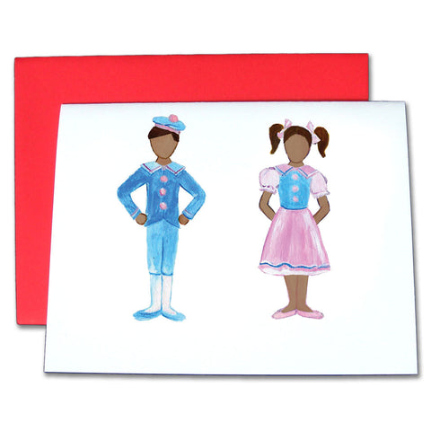Polichinelle Children (African-American) Note Cards