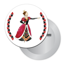 Load image into Gallery viewer, Queen of Hearts Button / Magnet