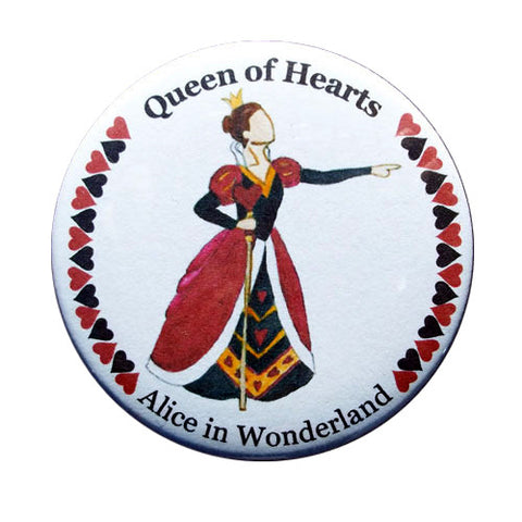 Queen of Hearts Button / Magnet