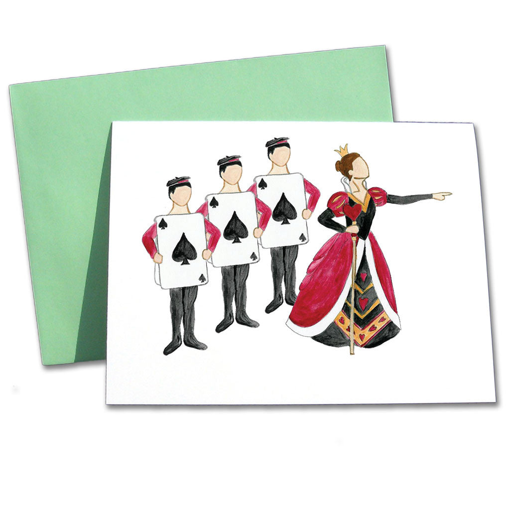 Queen of Hearts Note Cards - Ballet Gift Shop