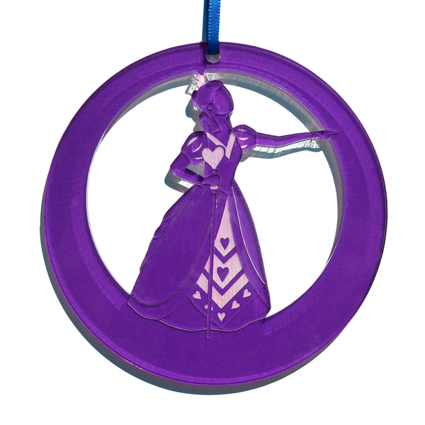 Queen of Hearts Laser-Etched Ornament