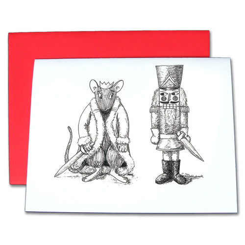 Nutcracker vs. Rat King Pen & Ink Note Cards - Ballet Gift Shop
