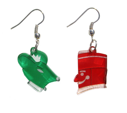 Nutcracker vs Rat King Earrings - Ballet Gift Shop