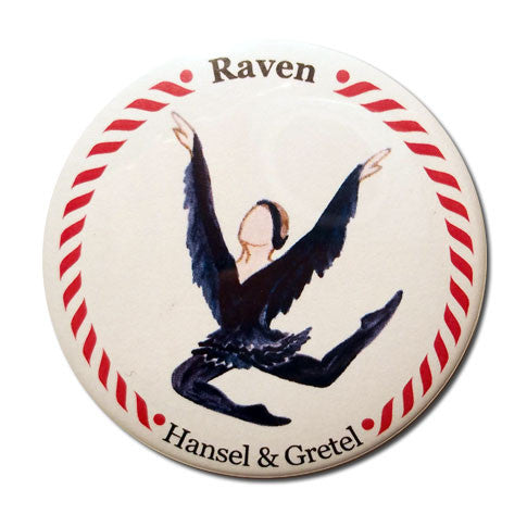 Raven Button/Magnet/Mirror - Ballet Gift Shop