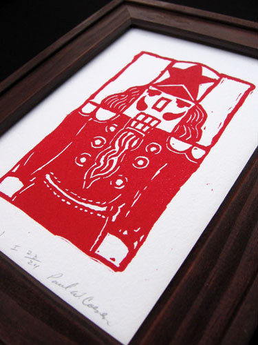 """Red Nutcracker"" 5x7 Art Print"