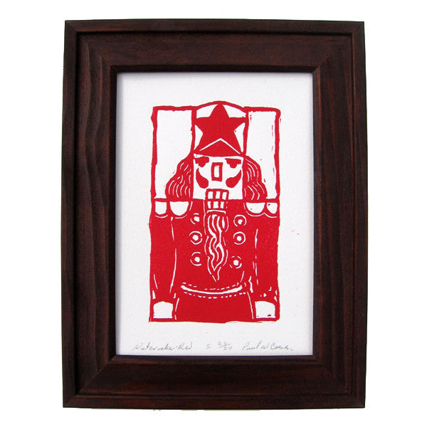 """Red Nutcracker"" 5x7 Art Print by Paul Coenen (Framed)"