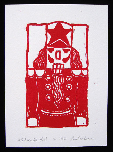 """Red Nutcracker"" 5x7 Art Print by Paul Coenen (Unframed)"