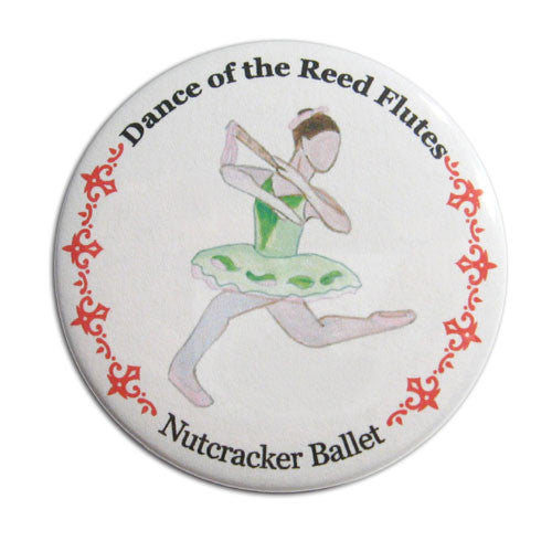 Reed Flute Dancer Button/Magnet/Mirror - Ballet Gift Shop