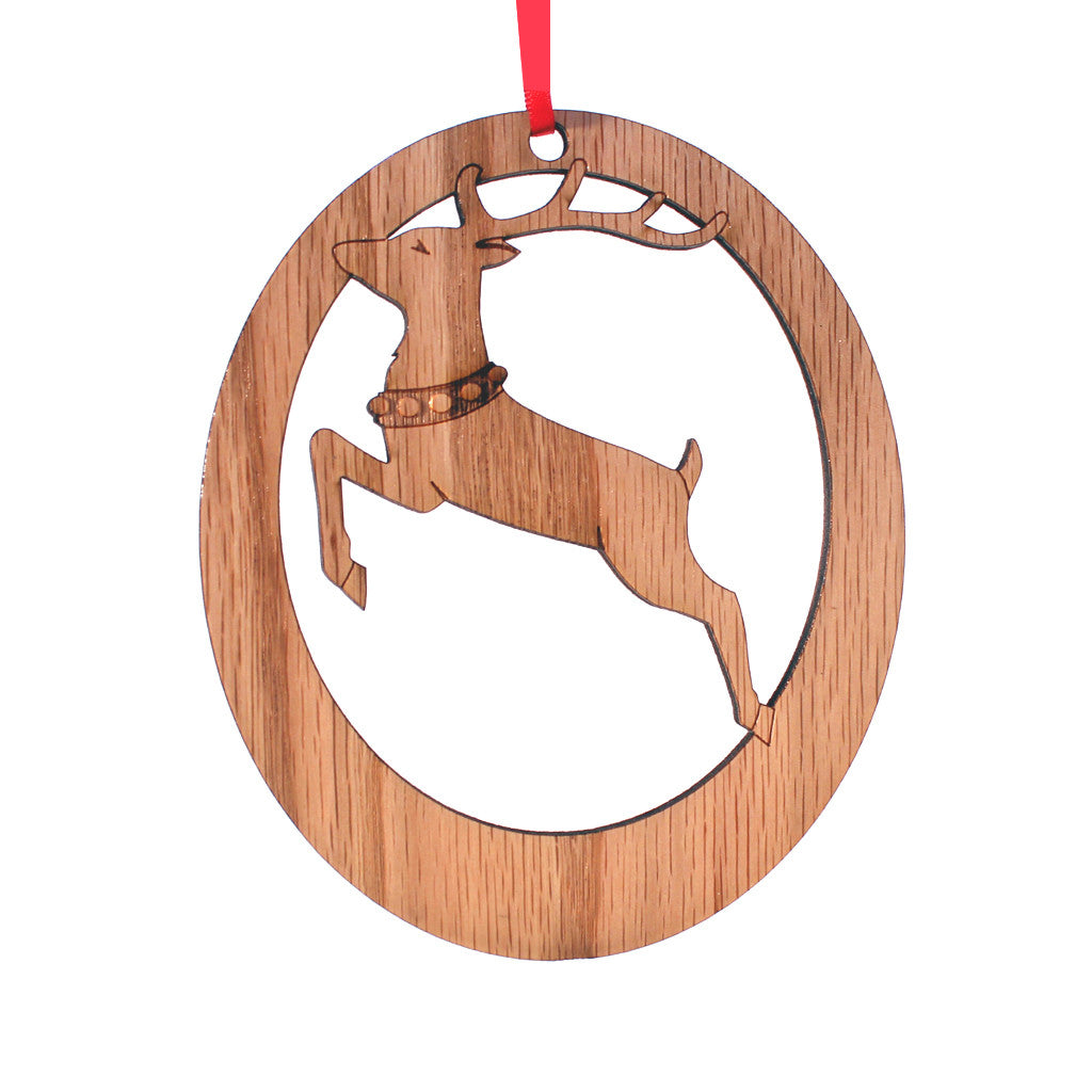 Reindeer Laser-Etched Ornament - Ballet Gift Shop