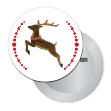 Load image into Gallery viewer, Reindeer Button/Magnet/Mirror