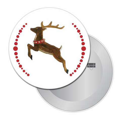 Reindeer Button / Magnet