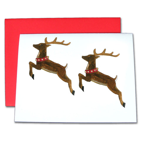 Reindeer Note Cards - Ballet Gift Shop