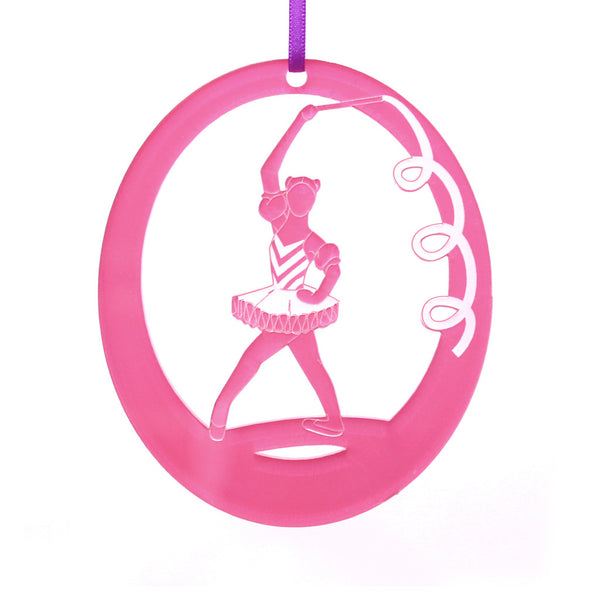 Ribbon Candy Laser-Etched Ornament - Ballet Gift Shop