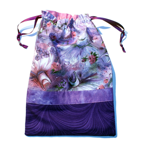 Purple Romantic Tutus Drawstring Tote