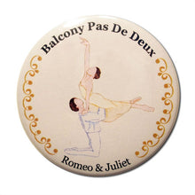 Load image into Gallery viewer, Balcony Pas de Deux Button/Magnet/Mirror - Ballet Gift Shop