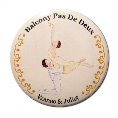 Balcony Pas de Deux Button/Magnet/Mirror - Ballet Gift Shop