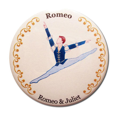 Romeo Button / Magnet - Ballet Gift Shop