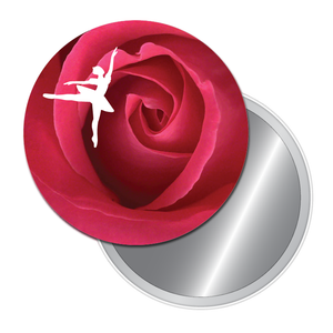 Rose Ballet Art Button/Magnet/Mirror