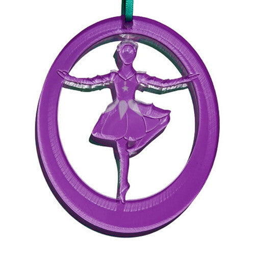 Rose Dancer Laser-Etched Ornament - Ballet Gift Shop