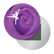 Load image into Gallery viewer, Rose Ballet Art Button/Magnet/Mirror