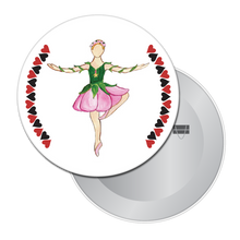 Load image into Gallery viewer, Rose Dancer (from Alice in Wonderland) Button/Magnet/Mirror