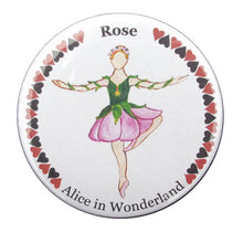 Load image into Gallery viewer, Rose Dancer (from Alice in Wonderland) Button/Magnet/Mirror - Ballet Gift Shop