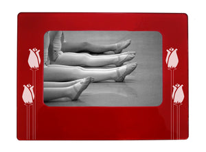 "Long Stem Roses 4"" x 6"" Magnetic Photo Frame (Horizontal/Landscape) - Ballet Gift Shop"