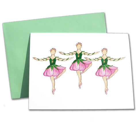 Rose Dancers Note Cards - Ballet Gift Shop