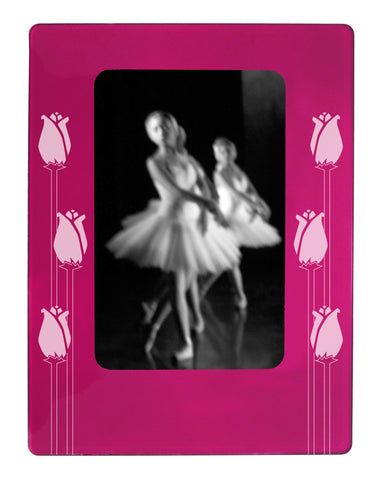 "Long Stem Roses 4"" x 6"" Magnetic Photo Frame (Vertical/Portrait) - Ballet Gift Shop"