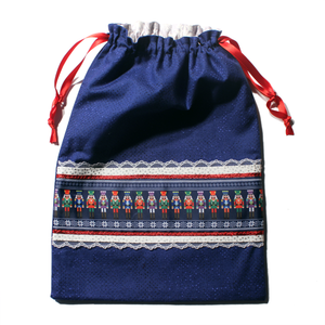 Royal Blue Nutcrackers Drawstring Tote