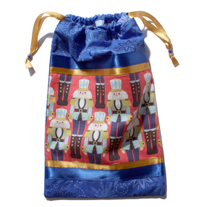 Royal Blue Nutcracker March Drawstring Tote