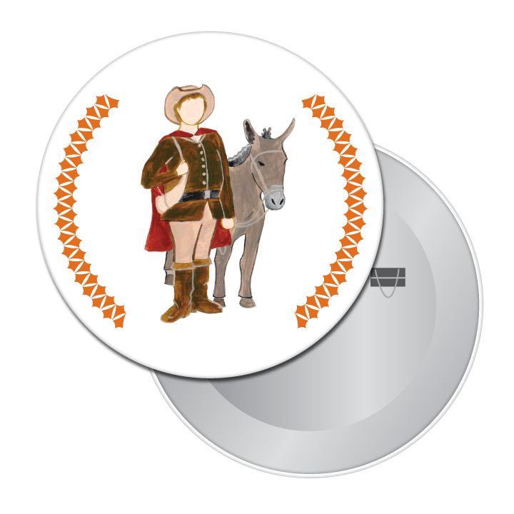 Sancho Panza Button / Magnet