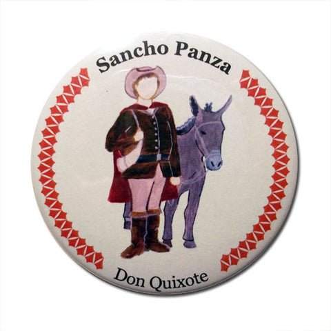 Sancho Panza Button / Magnet - Ballet Gift Shop