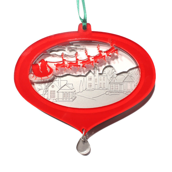 Santa's Sleigh Layered Ornament - Ballet Gift Shop